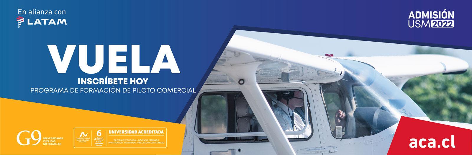 Abierta pre-inscripción Programa de Formación de Piloto Comercial